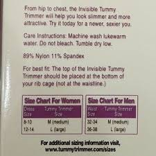 New Invisible Tummy Trimmer Nwt