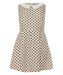 Iska London Size Chart Iska London Cream Black Polka Dot A Line Dress Zulily