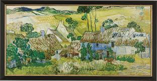 vincent van gogh painting farms near auvers 1890 in a frame
