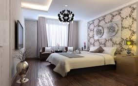 Nice Bedroom Wall Colors With Black Crystal Chandelier And Hdtv On Wall.  Home U203a Bedroom U203a How To Paint A ...