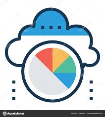 Chart On Cloud Computing Cloud Computing Pie Chart Infographic Stock Vector