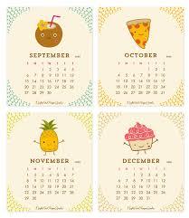 November 2020 Calendar Clip Art 2020 Fun Food Desk Calendar By Night Owl Paper Goods