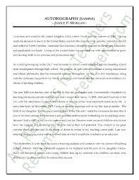 how to write an autobiography essay examples