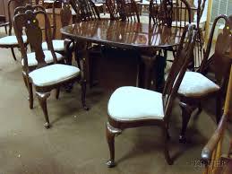 2 ethan allen queen anne dining room set ethan allen queen anne style oval carved walnut