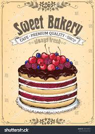 Chocolate Cake With Berries Vintage Stock Photo 384198874 Avopixcom