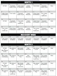 Core Force Workout Calendar Insanity Chart – Speculator.info