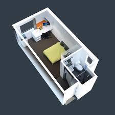 Cute Studio Apartment Floor Plans Furniture Layout - Small apartment floor plans 3d