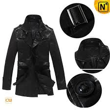 men leather trench coat cw804024 cwmalls com