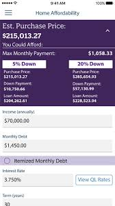 Mortgage Calculator By Ql By Quicken Loans Inc Ios United States