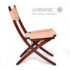 wegner style chair. Exellent Style Scandinavian Modern MidCentury Danish Rope Folding Chairs Wegner  Style For Sale Throughout Chair