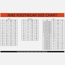 Nike Com Shoe Size Chart Nike Toddler Shoe Size Chart Nike Running Shoes