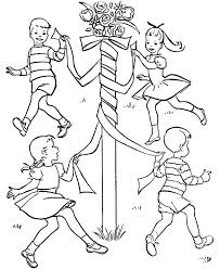 Small Picture spring activity maypole may day coloring pages may day coloring