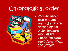 Chronological Words Chronological Text Structure Ppt Video Online Download