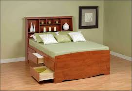 Furniture Queen Size Bookcase Trends Also Stunning Platform Bed With