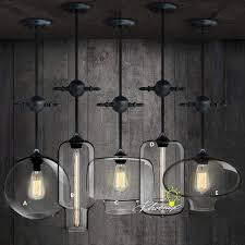 industrial loft lighting. LOFT Antique Industrial And Clear Glass Pendant Lighting 9051 Loft U