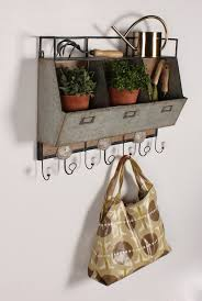 Rustic Wooden Coat Rack Arnica Rustic Wood and Metal Wall Storage Pockets with Coat Rack 56