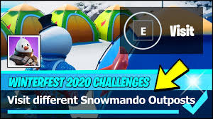 Epic is celebrating christmas with more free stuff, two free skins, and plenty of one of the first challenges is to visit different snowmando outpost in the game. Visit Different Snowmando Outposts Locations Search Chests Fortnite Winterfest Challenge Youtube