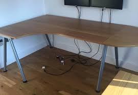 left corner desk ikea galant dimensions