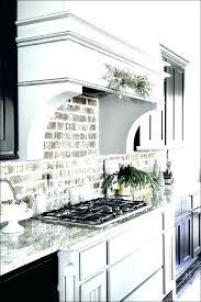 brick veneer backsplash whitewash kitchen look tile wall panels faux painting