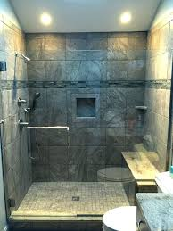 interior grey tile shower awesome dark wall light clear glass barrier floor regarding from gray bathroom ideas new tiled with thr