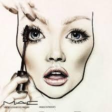 How To Draw Makeup Face Charts Saubhaya Makeup