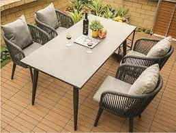aluminum rope cafe outdoor dining table