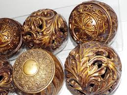 Decorative Bowl With Orbs Decorating Decorative Orbs On Brown Bowl For Table Accessories Ideas 25
