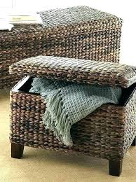 outdoor wicker storage bench wicker storage bench es alfresco home outdoor wicker storage bench wing outdoor