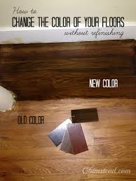 changing the floor color without refinishing