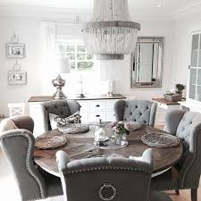 grey wood round dining table remarkable imposing room washed on within for home ideas 28