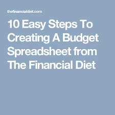 10 Easy Steps To Creating A Budget Spreadsheet from The Financial ...