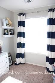 Learn how to make your own striped curtains #DIY #sewing I want these for