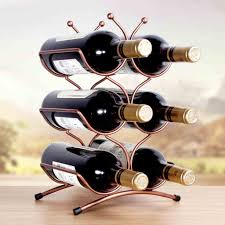 Small wine racks Wood Amazoncom Qiangzi Bottle Small Wine Rack Under Cabinet Corner Countertop Metal Storage Display Ornament Stand Kitchen Bar Home Home Kitchen Amazoncom Amazoncom Qiangzi Bottle Small Wine Rack Under Cabinet Corner