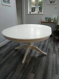 ikea ingatorp round extending white dining table