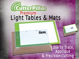 lighted area approx 12 x 16 board approx 13 x 18 the cutterpillar glow basic has a usb cord and adapter included