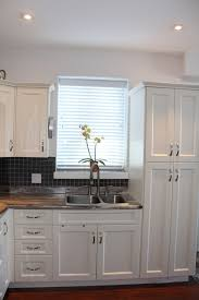 antique white shaker cabinets. antique white pvc shaker-style kitchen - campbell river modern-kitchen shaker cabinets