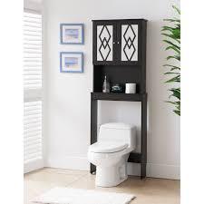 bathroom etagere over toilet over the toilet etagere glass shelves