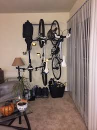 Indoor Bike Storage Storeyourboard Blog 3 Bike Wall Storage Rack Customer Photo