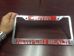 Get the best deals on vintage license plate frame when you shop the largest online selection at ebay.com. Newport Beach Ferrari License Plate Frame 1792023970