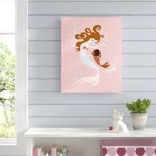 mermaid baby girl graphic art on baby girl nursery wall art with baby girl nursery wall art wayfair
