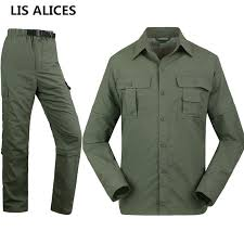 Shirts And Pants Us 8 49 15 Off Lisalices Mens Brand Tactical Clothing Quick Drying Military Shirt Breathable Long Sleeve Shirt And Pants Men Combat Shirts Set In