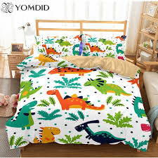 2pcs 3pcs printed bedding sets children room cartoon animal duvet cover with pillowcases queen