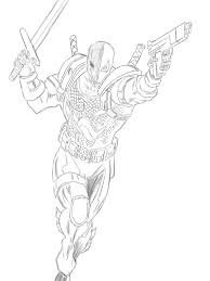Small Picture Deathstroke Coloring Pages Az Coloring Pages throughout