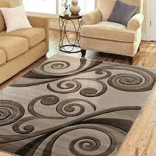 exclusive hand carved rugs modern abstract brown black tan area rug new