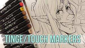 Tinge Touch Marker Review Colouring Timelapse
