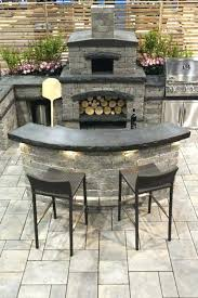 awesome outdoor fireplace pizza oven combo plans how to build an and combination