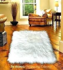 white faux fur area rug polar bear sheepskin rectangle 6 sizes small interior simple living room