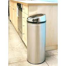 metal kitchen trash can metal kitchen trash can and gallon stainless steel round sensor kitchen trash metal kitchen trash can