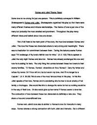 romeo and juliet critical essay romeo and juliet essay on love