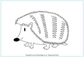 Small Picture Hedgehog Colouring Page
